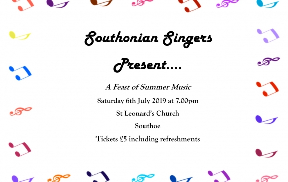 Southonian Singers in Concert (Saturday 6th July) - St Leonard's Church, Southoe